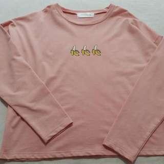 Long Sleeve T-shirt With Banana Print