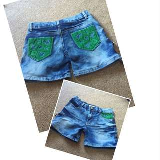hotpants kids fit to 7-8 yrs old