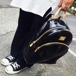 Michael kors MK 漆皮後背包