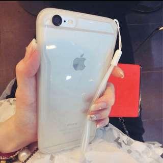 全新現貨1個💕I Phone6 4.7寸白色透明殼 送掛繩