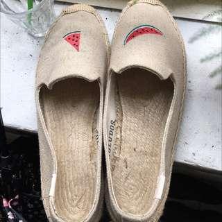 Soludos 草編鞋 西瓜🍉