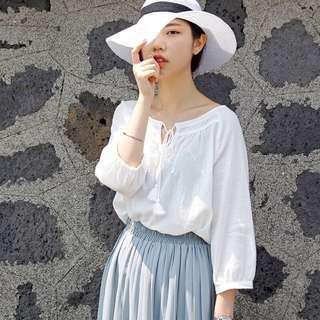 全新現貨1件💕七分袖白襯衫