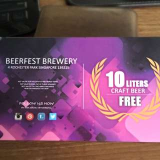 10 Liters Craft Beer Voucher