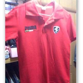 Puma Polo衫 女 S號 紅色 法拉利 全新 T恤