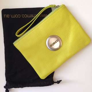 Mimco Pouch Lime Green
