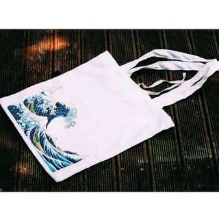TWINKLE#浮世繪黑白帆布包(預購)