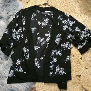PENDING Cherry Blossom Print Kimono