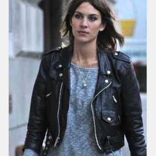 Genuine Leather Crop Moto Biker Jacket Bona Drag