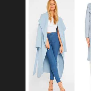 Rebecca Judd Loves Blue Oversized Coat