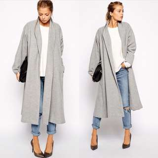 Rebecca Judd Loves Grey Oversized Coat