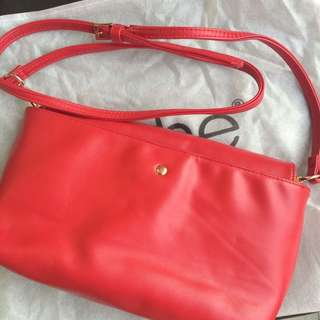 Noche Solid Red Sling Bag