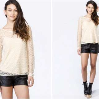 LACE TOP FROM PRINCESS POLLY