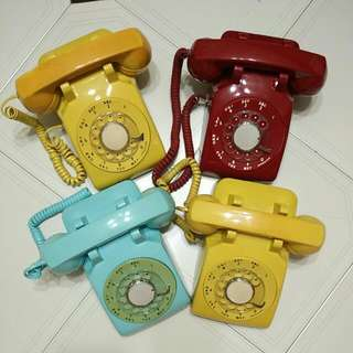 Rotary Dial Table Phone