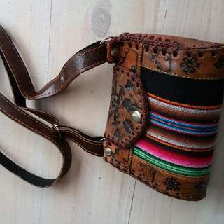 South American Style Leather Bag (From Argentina)