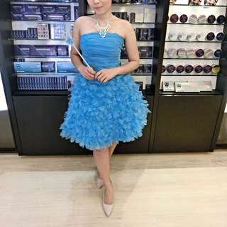 Sky Blue Evening Gown
