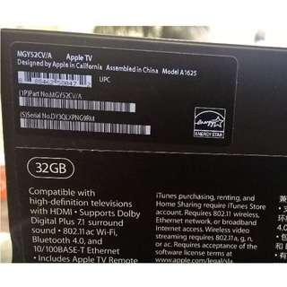 Apple TV 32gb Gen4