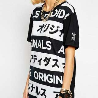 Adidas Orginals T-Shirt With All Over Typo Print