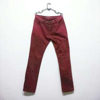 Slim cut pants