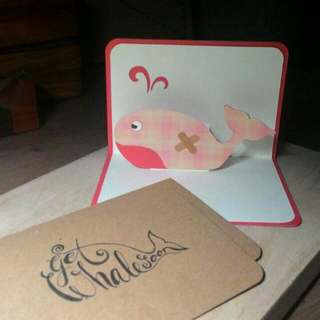 Get Whale Soon 0.1 • Pop Up Card • Red