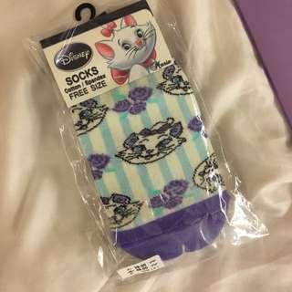瑪莉貓 迪士尼 正版 襪子 紫色 全新