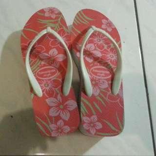 全新 Havaianas 厚底 6cm 拖鞋