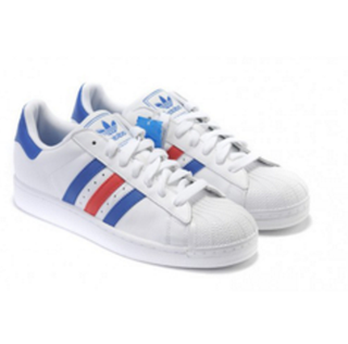 Adidas Superstars (With Blue & Red Stripes)