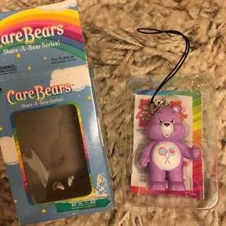Care bear 彩虹熊 🌈🐻care brars 吊飾 公仔 玩偶 鑰匙圈 紫色 全新 限量 紫色