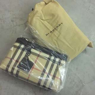 255d529277ad Burberry Canvas Cosmetic Pouch