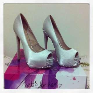 White Glamorous Heels