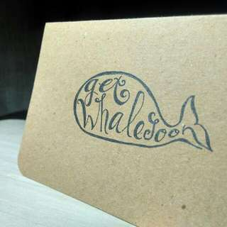 Get Whale Soon 0.2 • Pop-up Card • Red