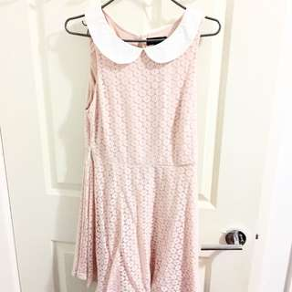PASTEL PINK PETER PAN DRESS