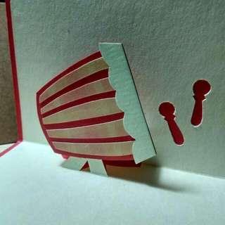Gema Takbir • Pop-up Card • Red