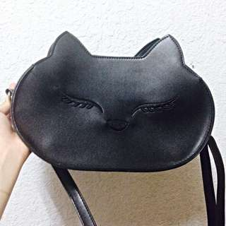 【全新】黑色狐狸肩背包