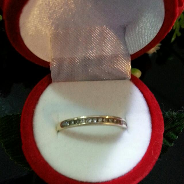 9Ct Solid Gold and Diamond Ring