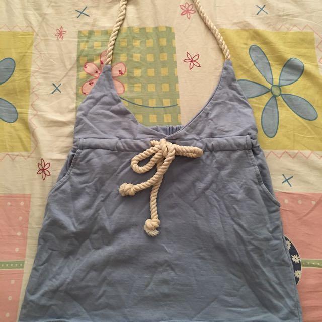 海軍風吊帶裙