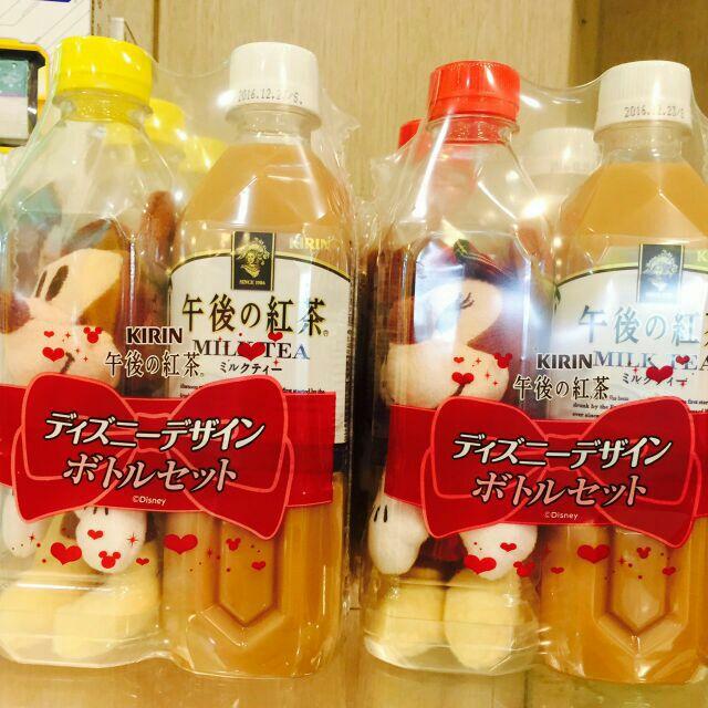 現貨日本限定超限量午後紅茶 米奇米妮 瓶中玩偶 絕版