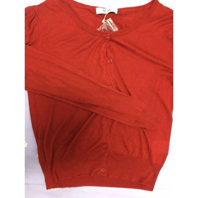 轉賣 MIIA 日貨專櫃 正品針織紅色 薄款 外套