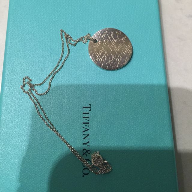 Authentic Tiffany Notes Necklace
