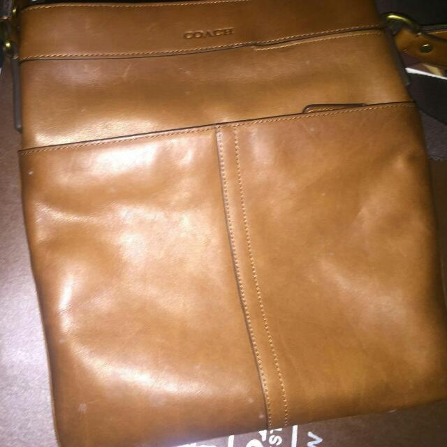 Brand New Coach Leather Card Holder & Sling Bag