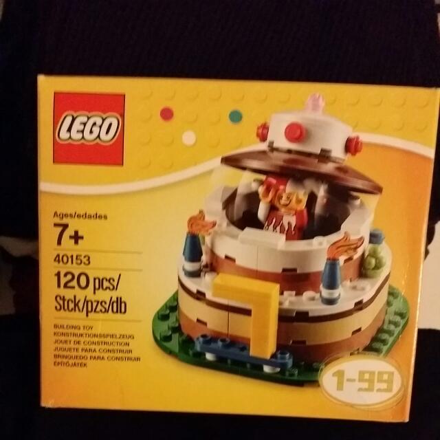 Brand New Lego Birthday Cake Decoration