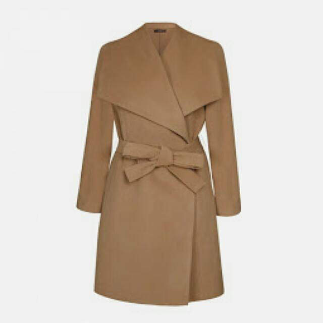 Brand New With Tags Ally Size 12 Camel Coat