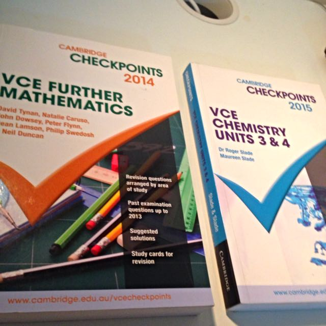 Cambridge VCE Checkpoints (Chemistry/Further maths/Maths Methods)