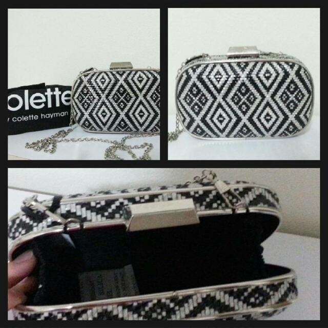 Clutch Women Bag Black And White
