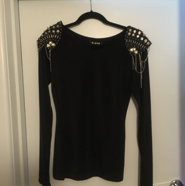 Gasp Size 10 Black Top