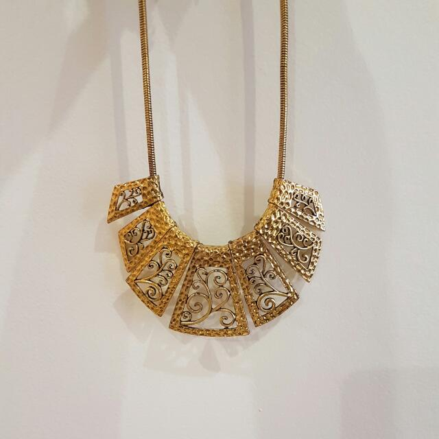 Gold Egypt Style Necklace