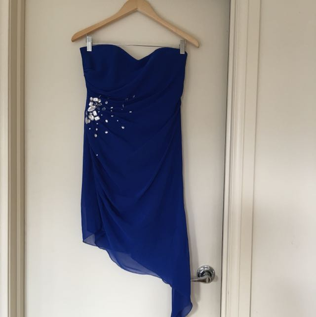 Lipsy Cobalt Blue Strapless Dress