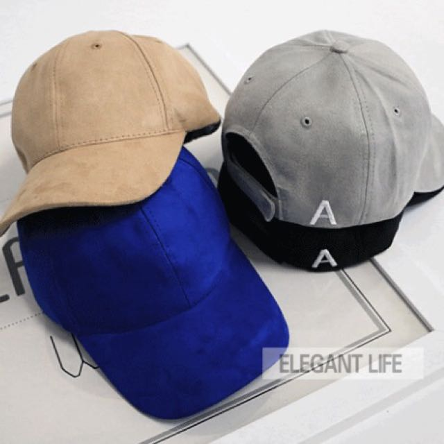 3b9f4114a New PO Suede Cap / baseball cap / korean cap / ulzzang cap ...
