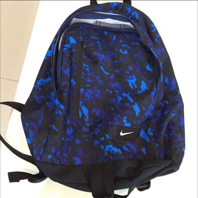 nike 正品 後背包 迷彩藍