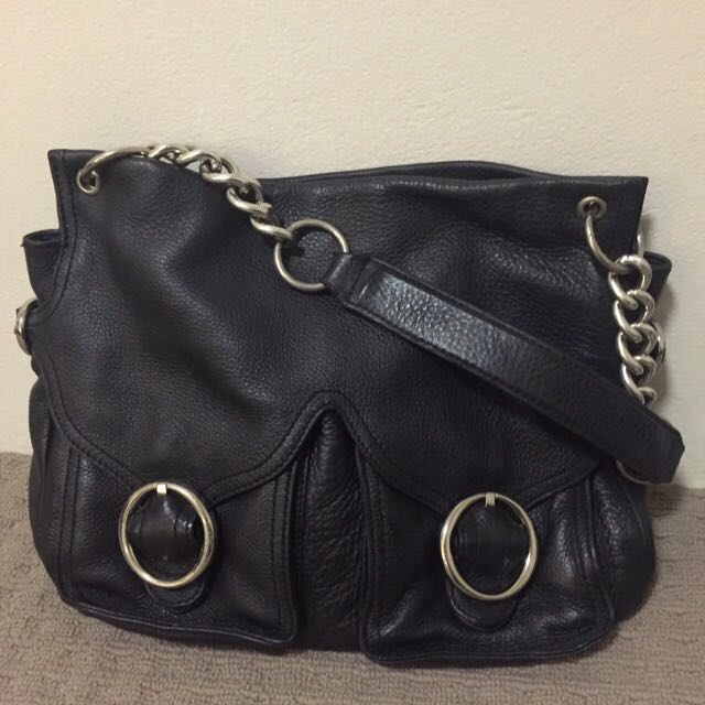 Oroton Leather Bag Black