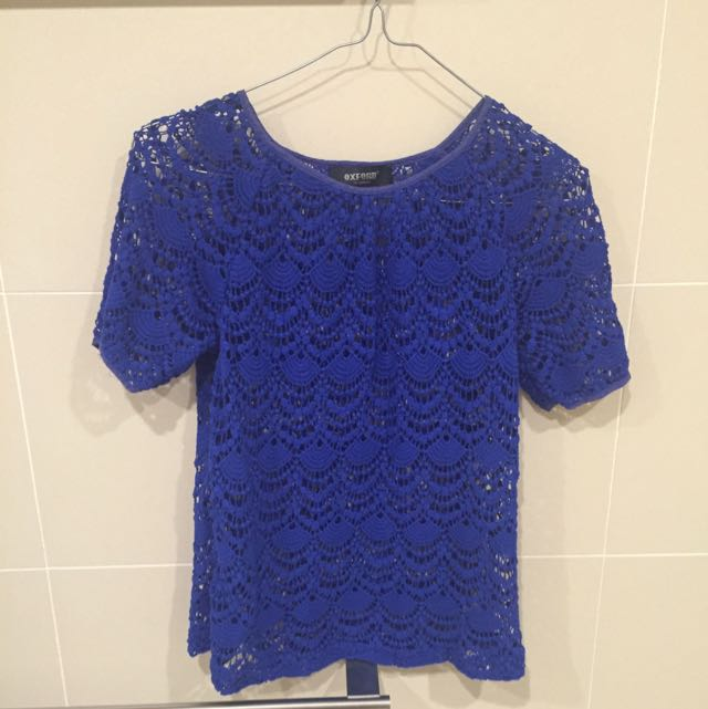 Oxford Lace Knitted Top